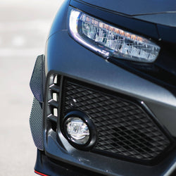 2017- 2020 Honda Civic Type R Canards V1 ( Carbon ) - Aeroflowdynamics
