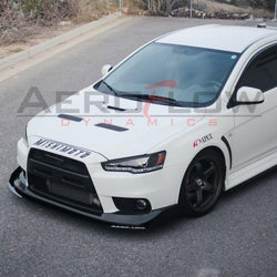 2007-2015 MITSUBISHI EVO X / Ralliart  SIDE SKIRT EXTENSION V2 - AeroflowDynamics