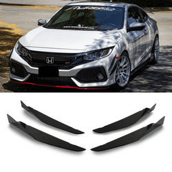 2017-2019  Honda Civic V2 Canards (Hatchback, Si Coupe, Si Sedan) - Aeroflowdynamics