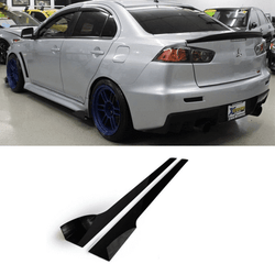 2007-2015 Mitsubishi Evo X / Ralliart Side skirt Extension V2 - Aeroflowdynmaics