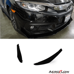 2016-2019 Honda Civic Sedan Canards V1 - Aeroflowdynamics