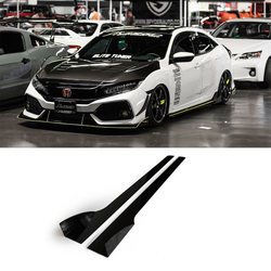 2017-2019 Honda Civic Side Skirt Extension (Civic Hatch/Sedan Type-R) V2 - Aeroflowdynamics