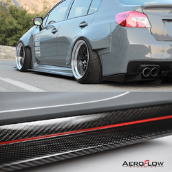 2015 - 2019 Subaru Wrx/Sti Side Skirt Extension (Carbon Fiber) - Aeroflowdynamics