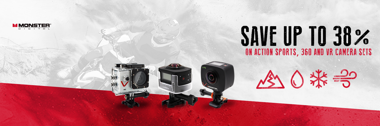 MONSTER DIGITAL® ACTION SPORTS CAMERA SALE