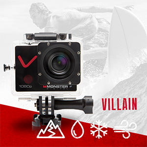 MONSTER DIGITAL® VILLAIN SET - SPORTS ACTION CAMERA SET