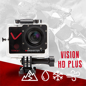 MONSTER DIGITAL® VISION HD PLUS SET - SPORTS ACTION CAMERA SET