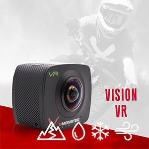 MONSTER DIGITAL® VISION VR - ACTION SPORTS CAMERA SET