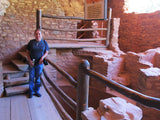 Taking a break from the show at the Anasazi Cliff Dwellings!