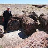 Bill at Crystal Forest with Petrified Logs