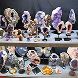 Lots of Amethyst and Stone Geodes