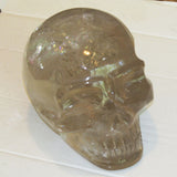 Life-size Carved Smoky Quartz Skull