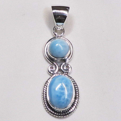 Larimar Sterling Silver Pendant Jewelry