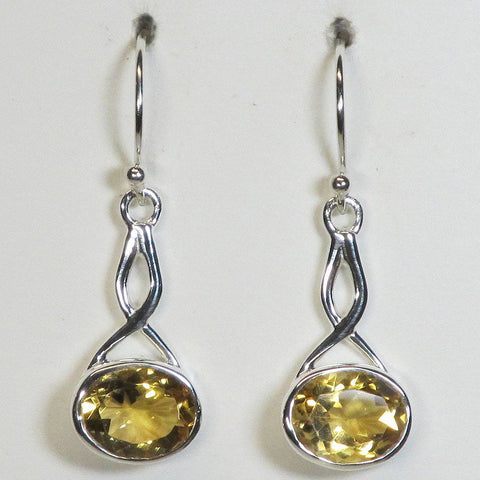 Citrine Sterling Silver Earrings Jewelry