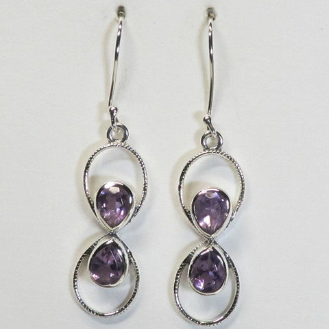 Amethyst Sterling Silver Earrings Jewelry