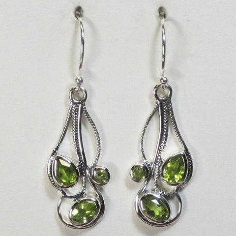 Peridot Sterling Silver Earrings Jewelry