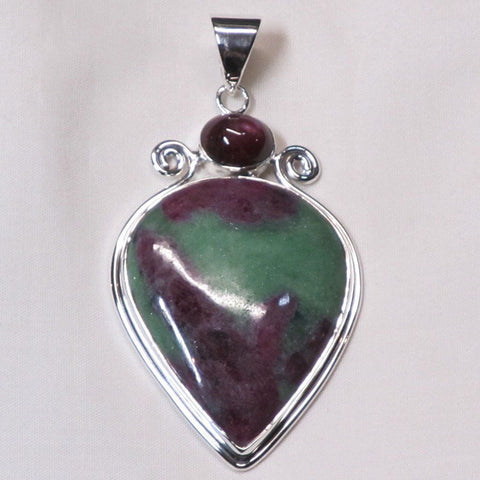 Ruby in Zoisite & Star Ruby Sterling Silver Pendant Jewelry