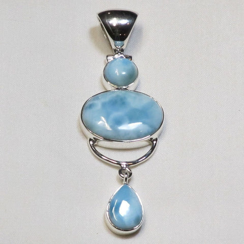 Larimar Gemstone Sterling Silver Pendant Jewelry