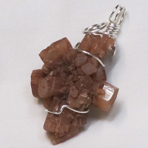 Wire Wrapped Aragonite Crystal Pendant Jewelry