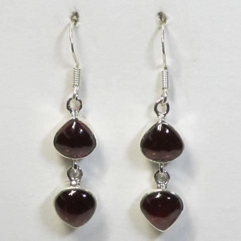 Garnet Gemstone Sterling Silver Earrings Jewelry