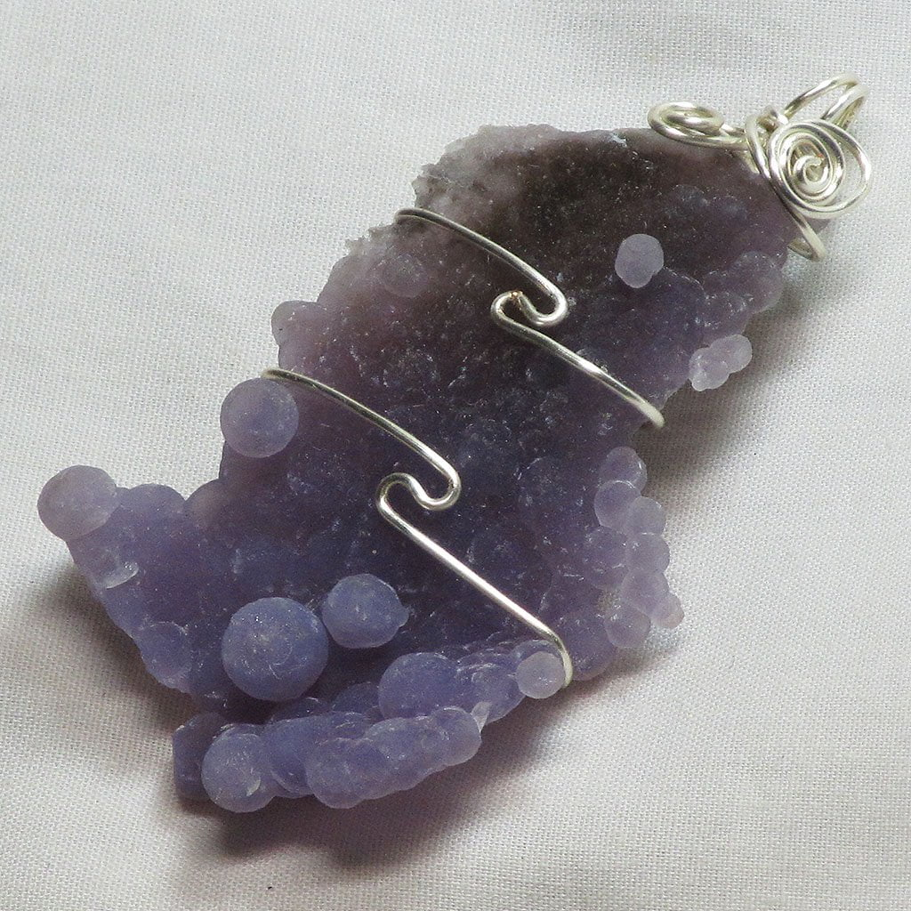 Wire Wrapped Grape Agate Cluster Pendant Jewelry