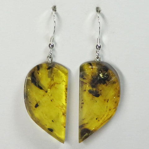 Colombian Amber Sterling Silver Earrings Jewelry