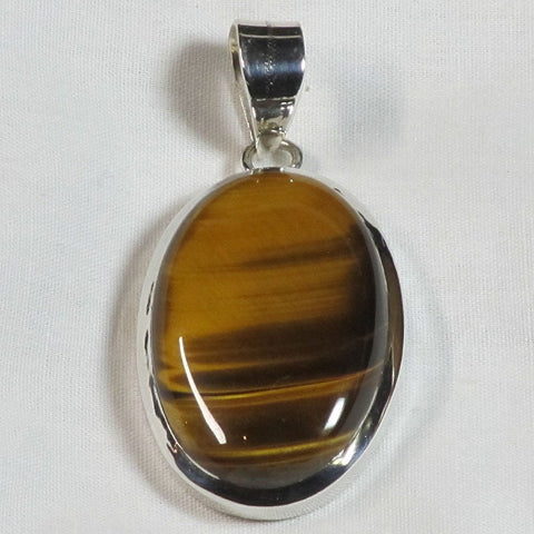 Golden Tiger Eye Sterling Silver Pendant Jewelry