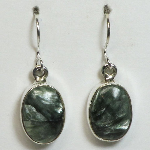 Seraphinite Sterling Silver Earrings Jewelry