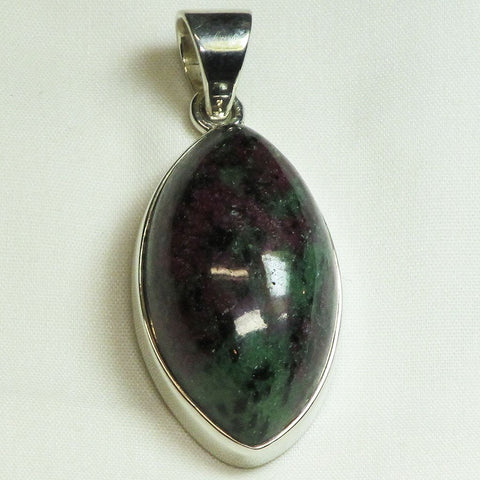 Ruby in Fuchsite Sterling Silver Pendant Jewelry
