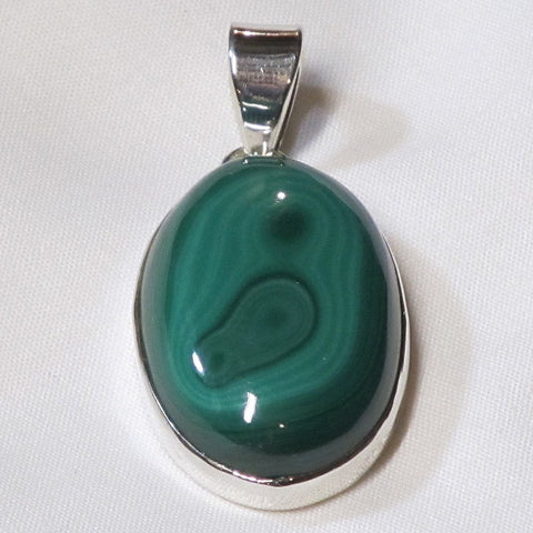 Malachite Sterling Silver Pendant Jewelry