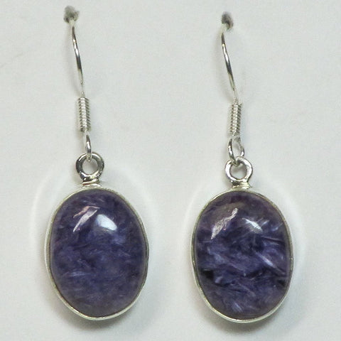 Charoite Sterling Silver Earrings Jewelry