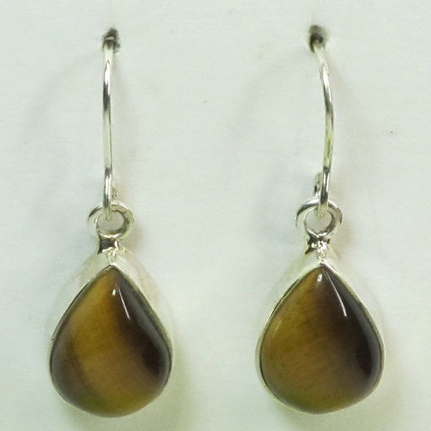 Tiger Eye Sterling Silver Earrings Jewelry | Blue Moon Crystals