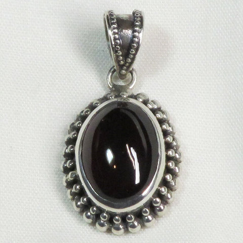 Garnet Sterling Silver Pendant Jewelry | Blue Moon Crystals