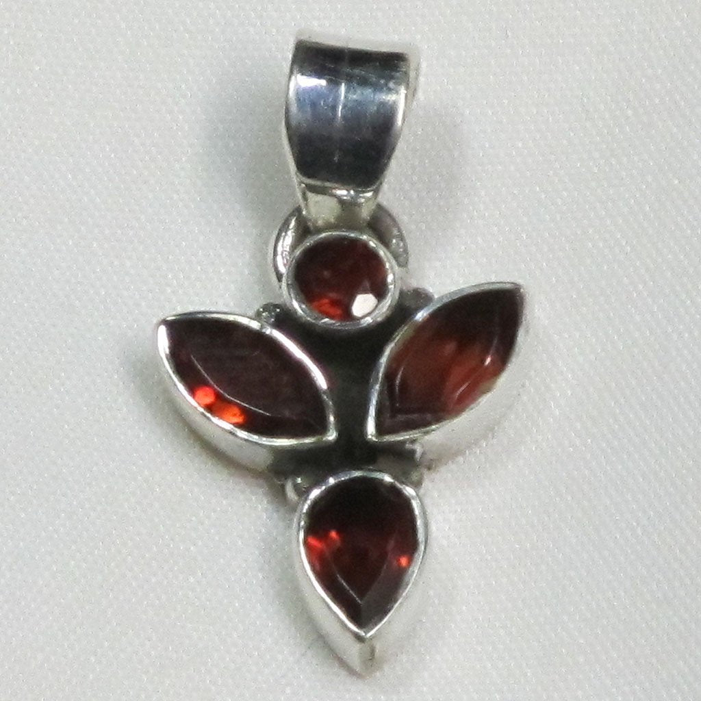 Garnet Sterling Silver Pendant | Blue Moon Crystals & Jewelry