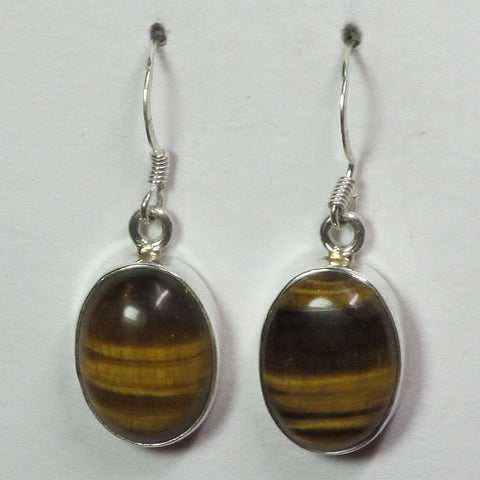 Tiger Eye Sterling Silver Earrings | Blue Moon Crystals & Jewelry