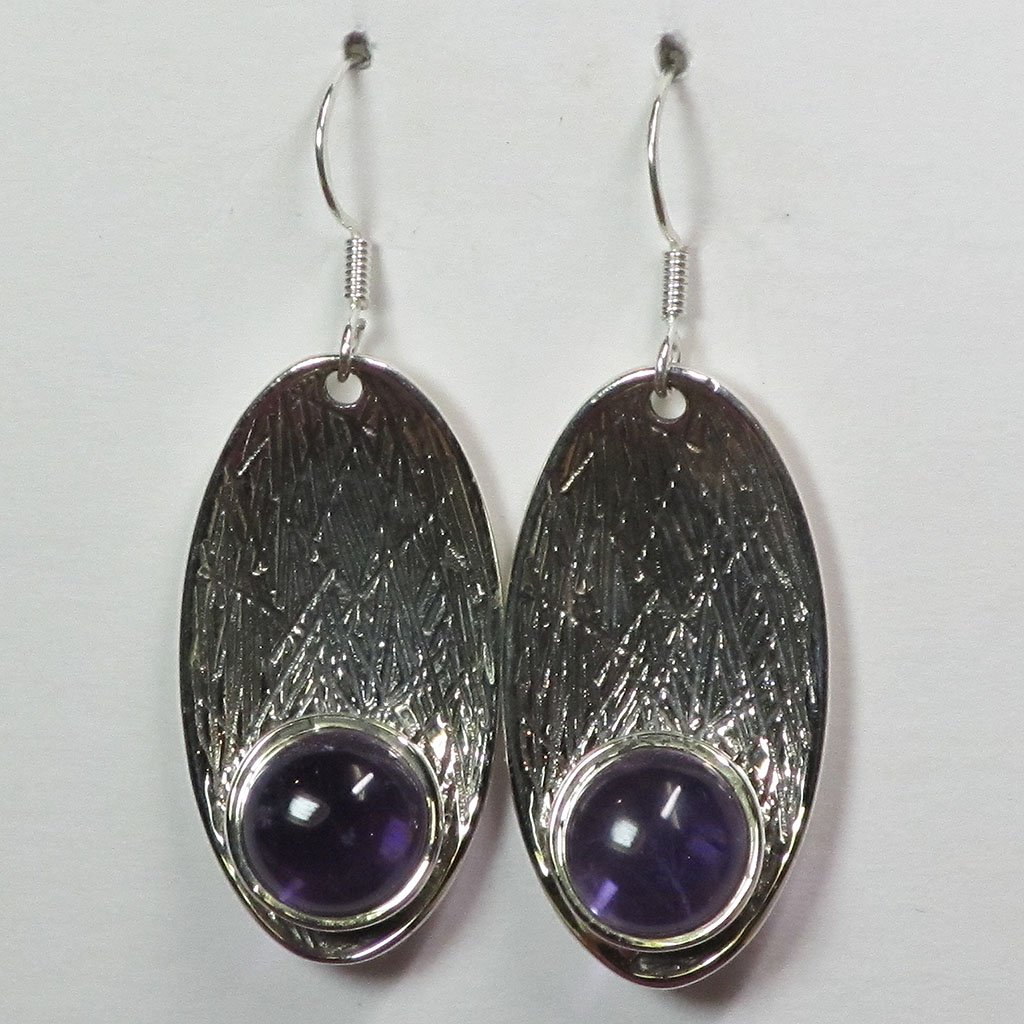 Amethyst Sterling Silver Earrings | Blue Moon Crystals & Jewelry