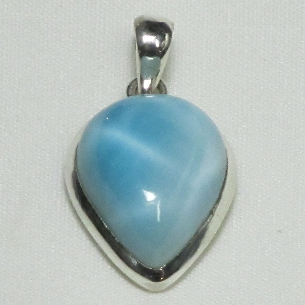Larimar Gemstone Sterling Silver Pendant | Blue Moon Crystals