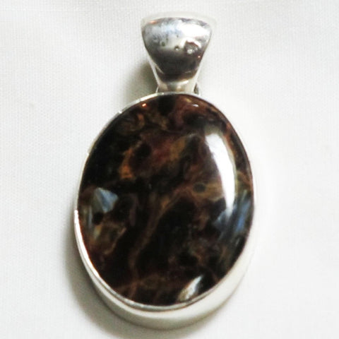 Pietersite Gemstone Sterling Silver Pendant | Blue Moon Crystals