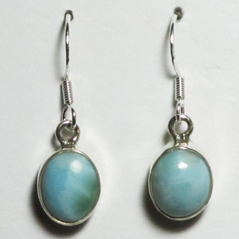 Larimar Sterling Silver Earrings | Blue Moon Crystals & Jewelry