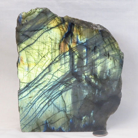 1 Side Polished Labradorite Slab from Madagascar