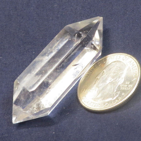 Polished Quartz Crystal Double Terminated Generator Point from Brazil