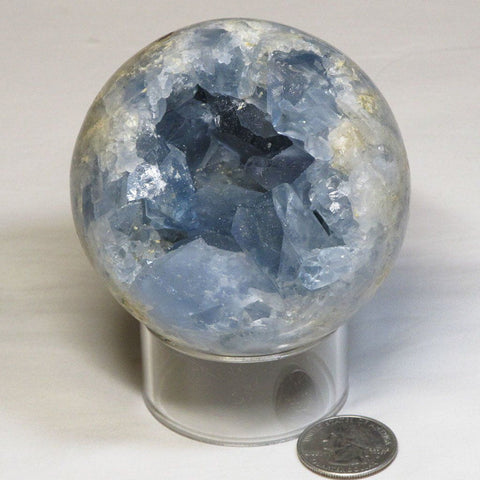 Polished Celestite Sphere Ball from Madagascar