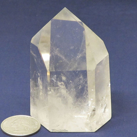 Polished Quartz Crystal Point from Brazil with Time-Link Activation