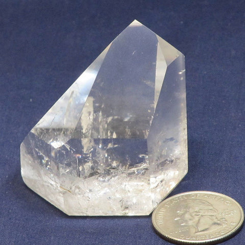 Polished Quartz Crystal Point from Brazil