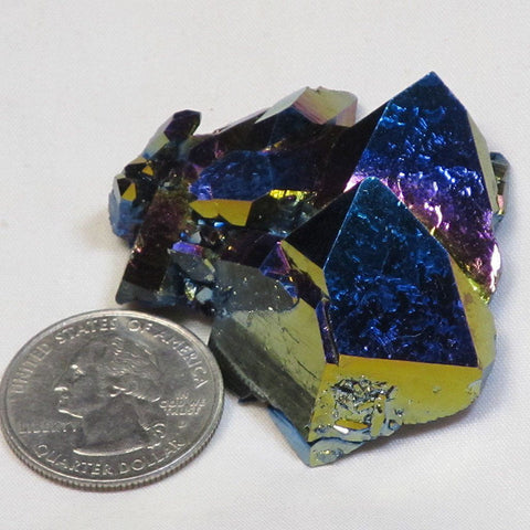 Rainbow or Flame Aura Quartz Crystal Cluster