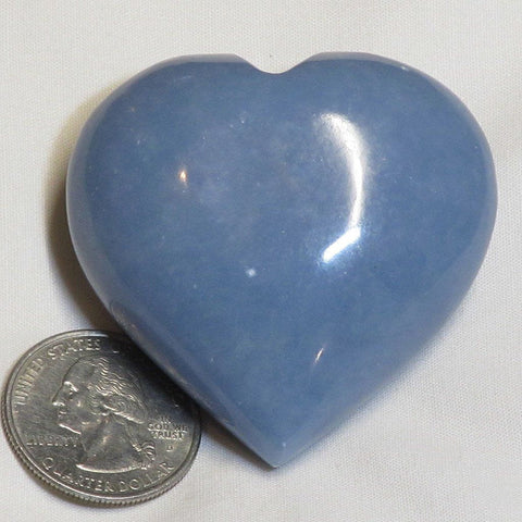Polished Angelite Heart from Peru