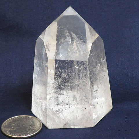 Polished Quartz Crystal Dow Point from Brazil