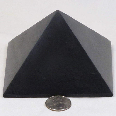 Polished Type 2 Shungite Pyramid from Russia (Shipped from USA)