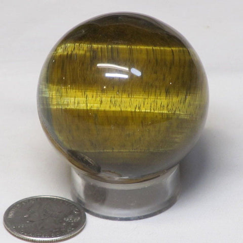 Polished Tiger Eye Sphere Ball from Central Africa