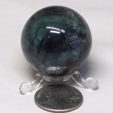 Polished Fluorite Sphere Ball from Central Africa