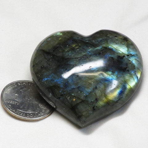 Polished Labradorite Heart from Madagascar
